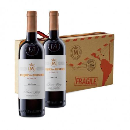 2 bottles of Marqués de Murrieta Reserva with box