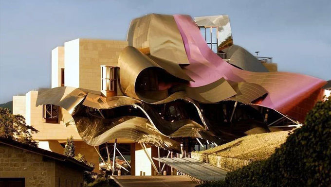 Marques de Riscal winery exterior detail