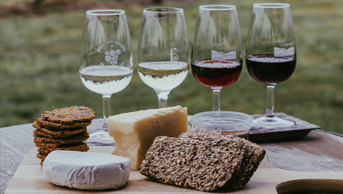 Cheese and wines