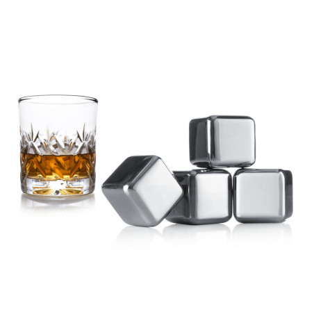 Cubitos para whisky Vacu Vin (4 unidades)